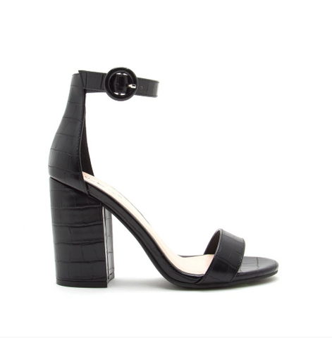 Crocodile One Band Ankle Strap Sandal