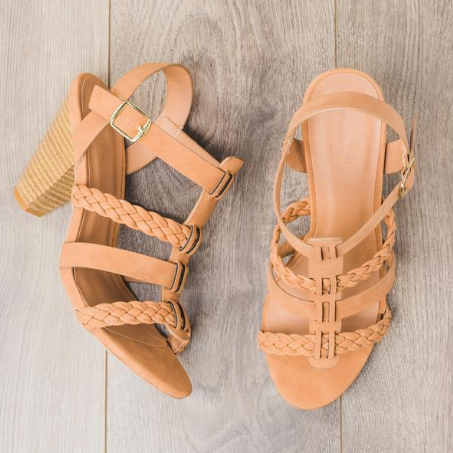 Braided Strappy HeelS