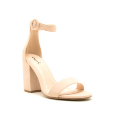 Nude Nubuck One Band Ankle Strap Sandal