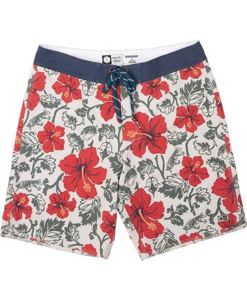 Salty Crew Hooked Floral Boardshort Off White