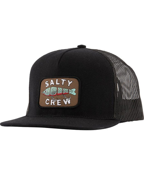 Salty Crew Paddle Tail Black Trucker cap
