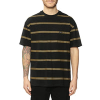 Globe Too Fast Stripe Tee Black
