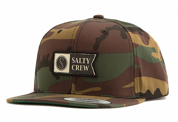 Salty Crew Alpha Stamped 6 Panel Cap (Camo)