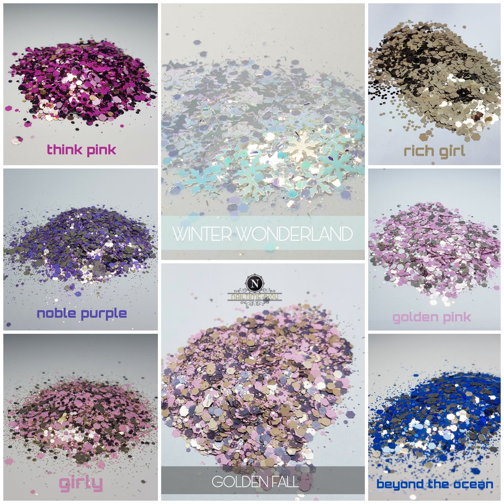 Chunk Glitter mixes