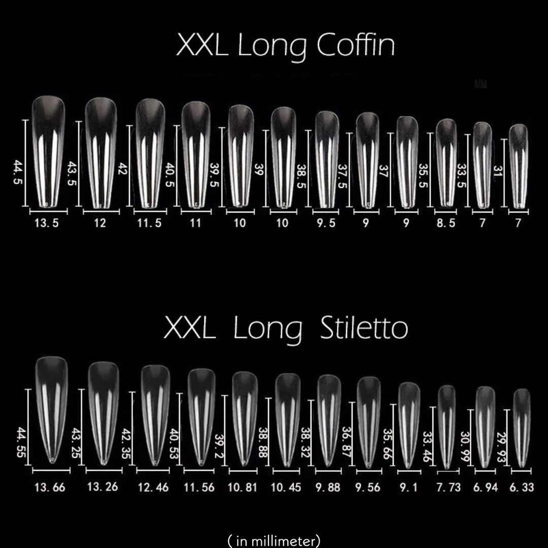 full cover xxl coffin nails