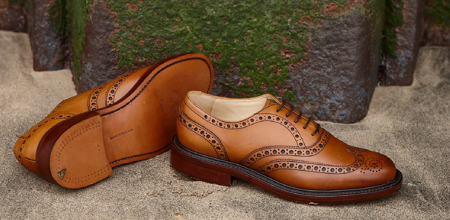 Charles - Men's Handmade Leather Brogue Shoes By Barker