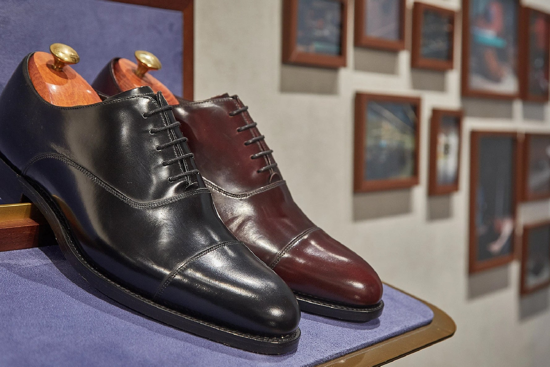 Black and Brown Oxford Shoes By Barker