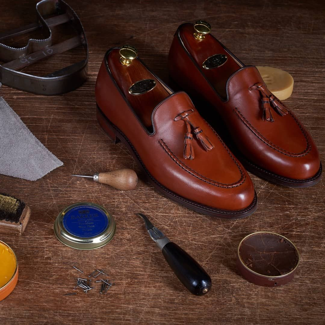 SHOE POLISHING - Caring for your shoes by Barker