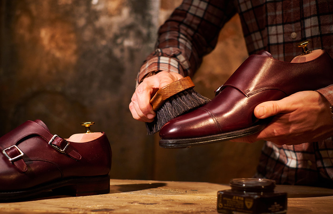 Shoe polishing - Caring for your Barker's Handmade Leather Shoes