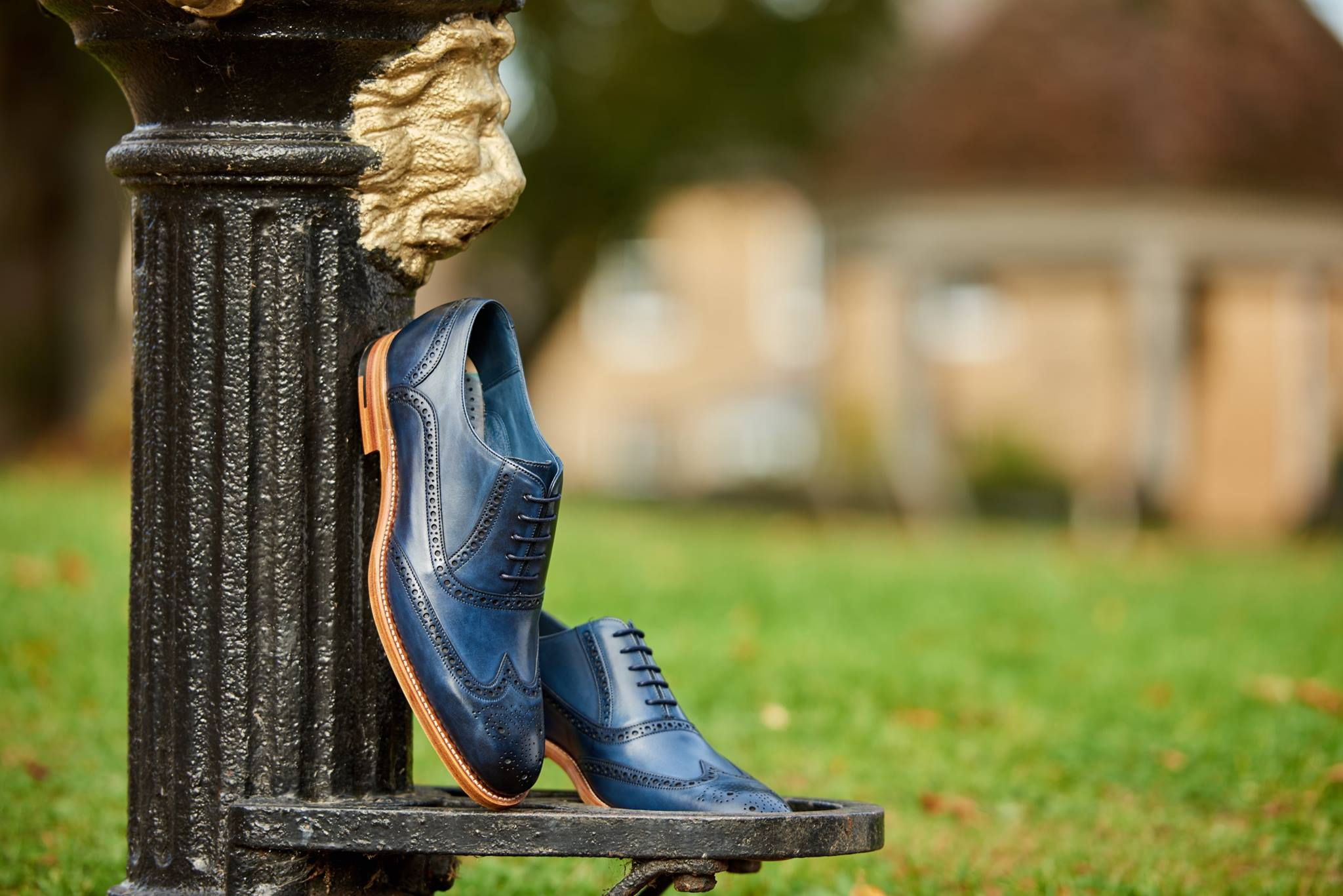 Valiant - Men's Handmade Leather Brogue Oxford By Barker
