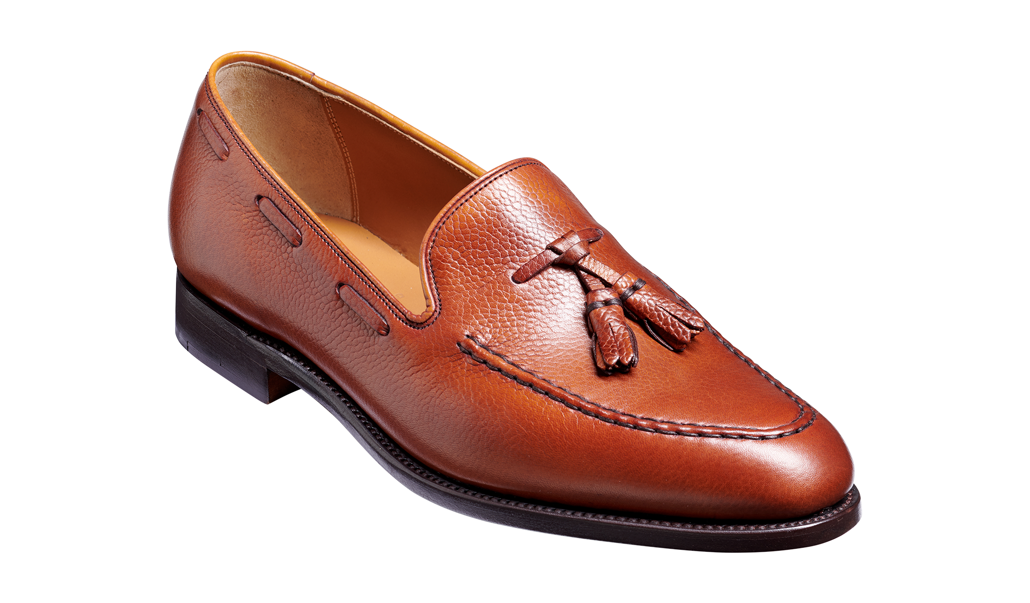 Newborough - A brown handmade leather loafers for men by Barker Shoes.