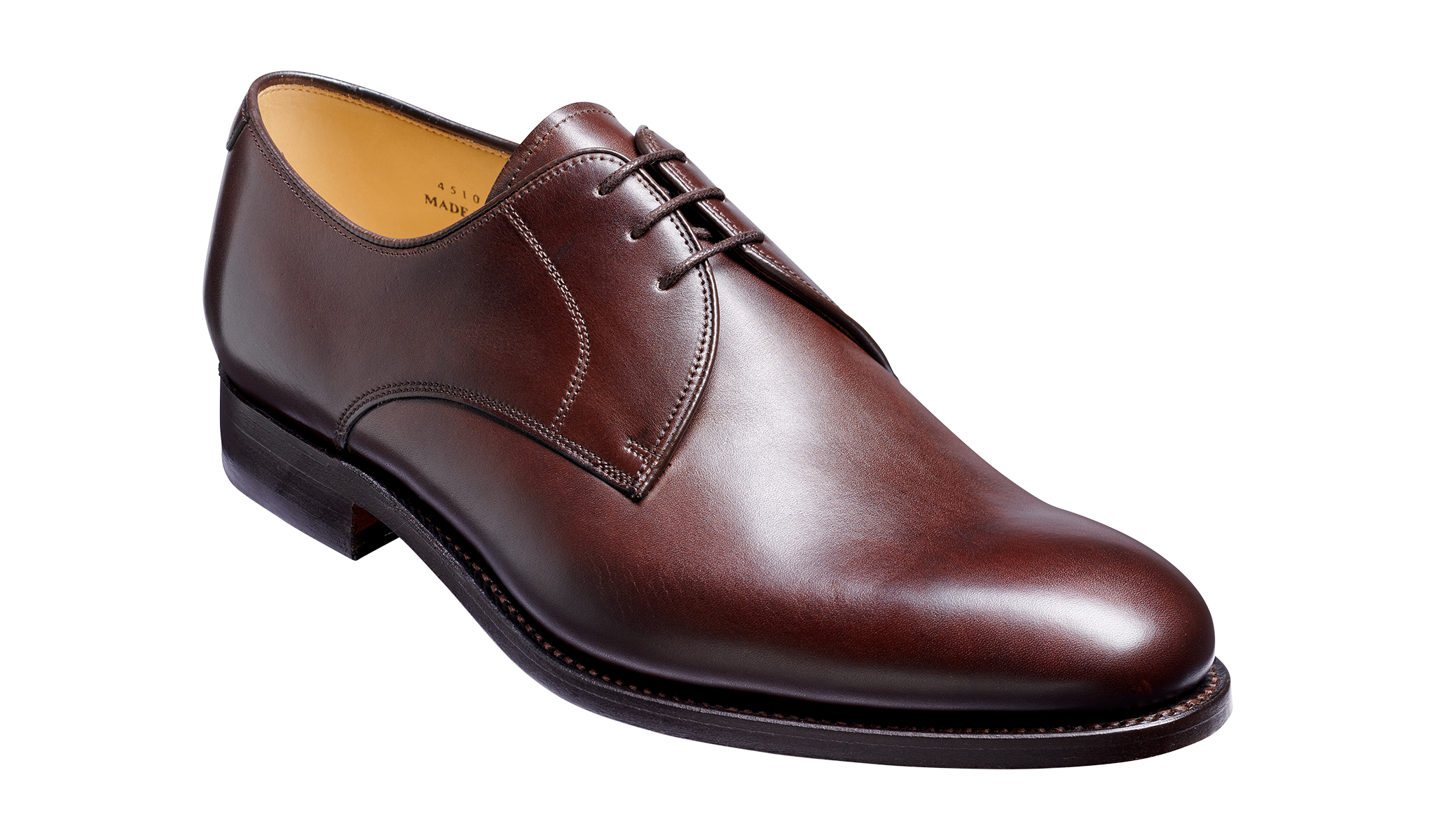 March - Men's Handmade Brown Leather Derby Shoe From Barker