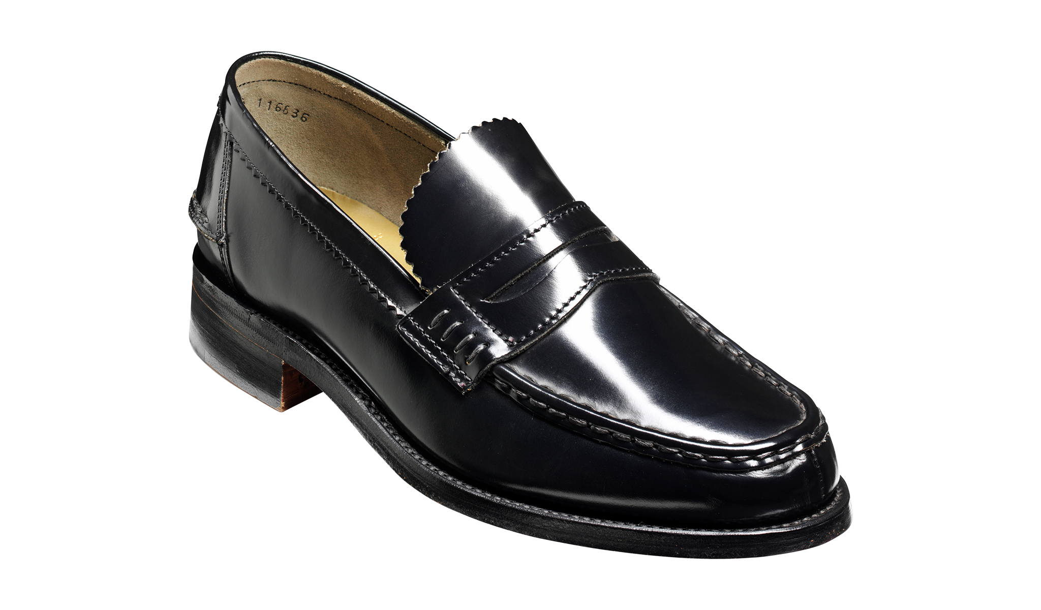 Caruso - A black men's loafer by Barker Shoes.