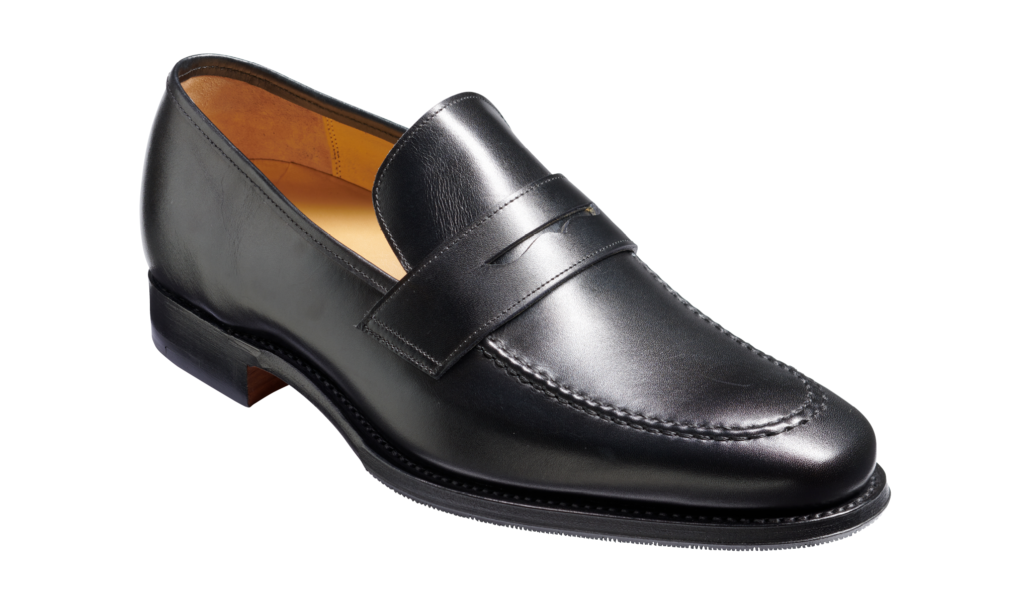 Gates - A men's black loafer by Barker Shoes