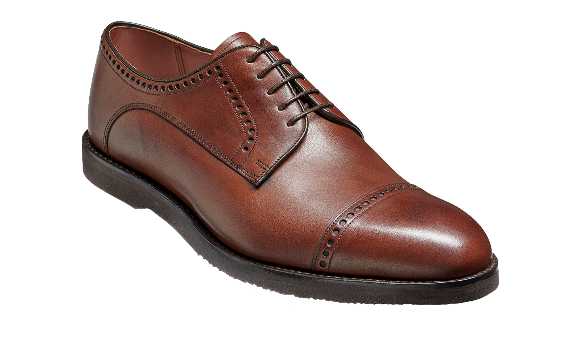 Marcus - Men's Handmade Brown Leather Brogue Derby From Barker