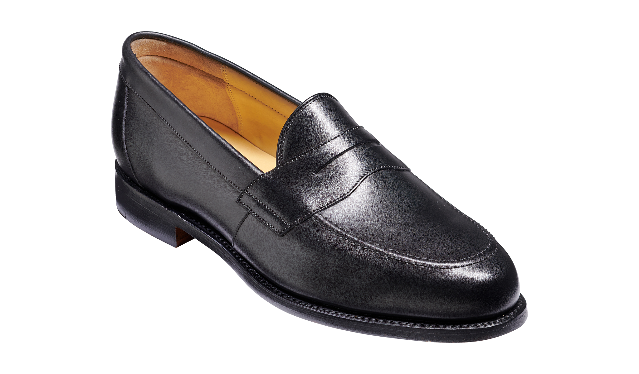 Portsmouth - A men's black loafers by Barker Shoes.