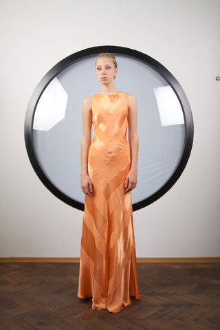 Amber silk dress by Riina Poldroos