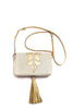 Little Bag of Joy, gold on beige, by Riina Põldroos