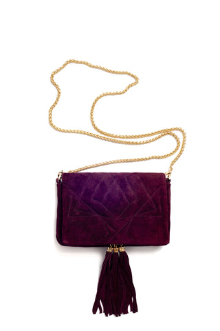 Little Bag of Joy, purple suede by Riina Põldroos