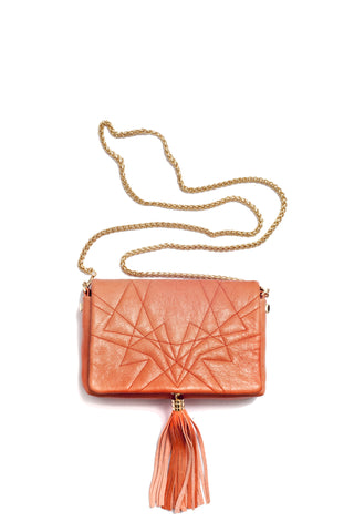 Little Bag of Joy, orange color, by Riina Põldroos