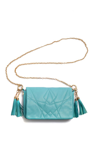 Little Bag of Joy, turquoise color, by Riina Põldroos