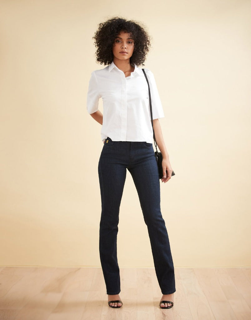 Jeans droit Chloé Indigo par Yoga Jeans - Boutique Le Local