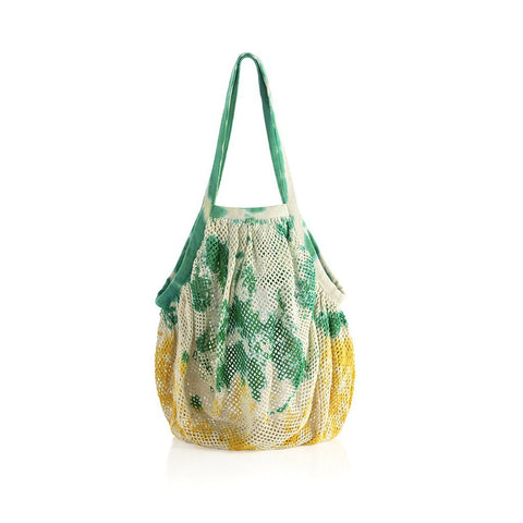 Azalea Green Tote String Bag