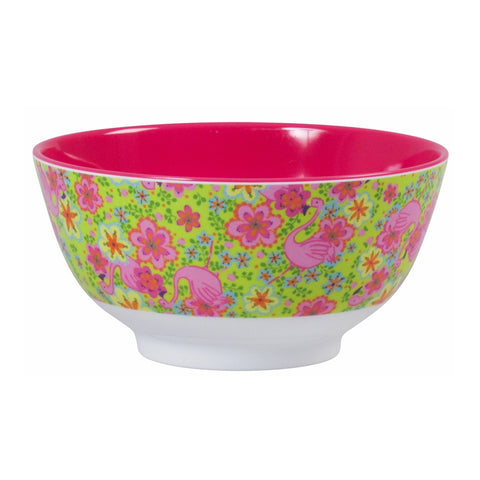 Two Tone Flamingo Print Bowl