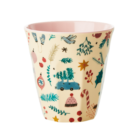 Rice DK Melamine Cups with Christmas Themes - Christmas Tree