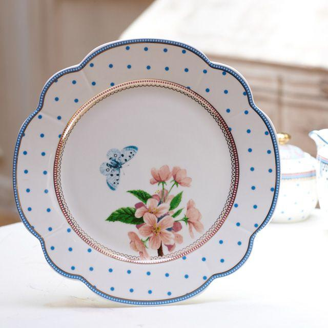 Lisbeth Dahl | Set of 2 Flowers and Butterfly Medium Plates