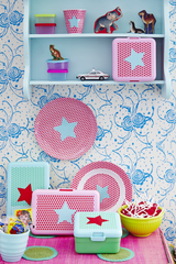 Rice DK | Kids Melamine Spoon and Fork with Girls Star Print