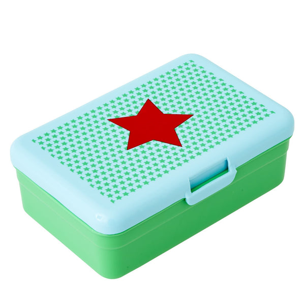Rice DK | Big Turquise Red Star Lunch Box