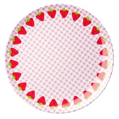 Rice DK | Kids Melamine Lunch Plate with Strawberry Print