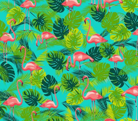 Kitsch Kitchen | Flamingo Print Oilcloth