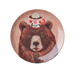 Rice Dk | Melamine Dessert Plate with Andrea Brown Bear Print