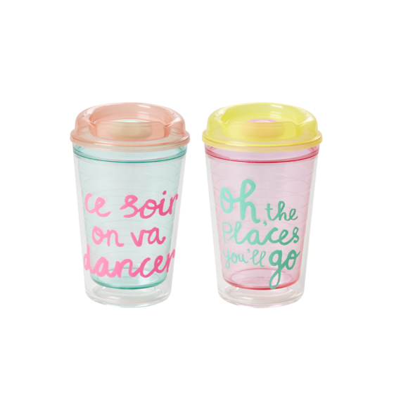 Rice DK Funky Text Travel Cups