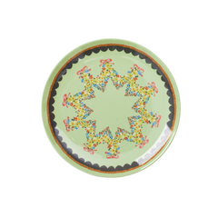 Rice Dk | Melamine Dessert Plate with Mint Flower Print