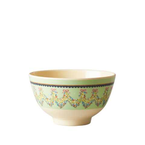 Rice DK | Melamine Small Bowl with Mint Flower Print