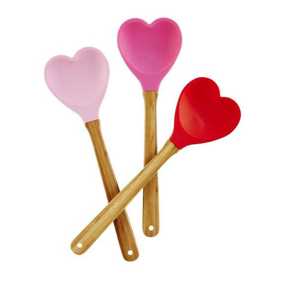 Rice Dk | Bamboo and Silicone Heart Spatula