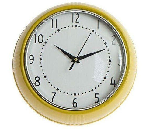 Kitsch Kitchen | Yellow Cocina Wall Clock