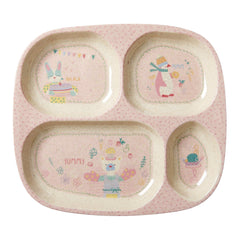 Rice DK | Kids 4 Room Bamboo Melamine Plate with Girls Cooking Print