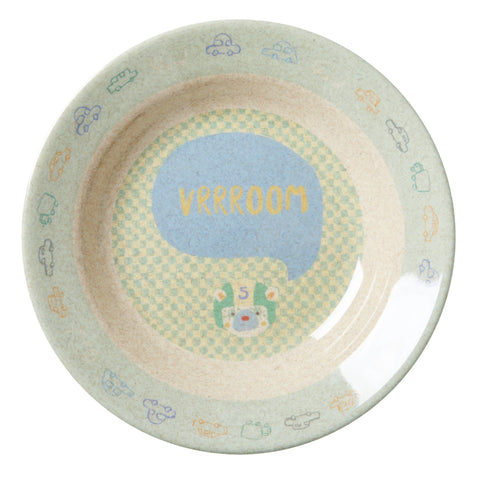 Rice DK | Kids Bamboo Melamine Bowl with Boys Race Print