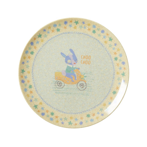 Rice Dk | Kids Bamboo Melamine Lunch Plate with Boys Race Print