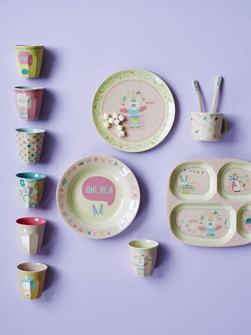 Rice Dk | Kids Bamboo Small Melamine Cup with Girls Cooking Print