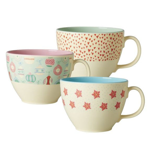 Rice DK Melamine Jumbo Cups with Christmas Themes