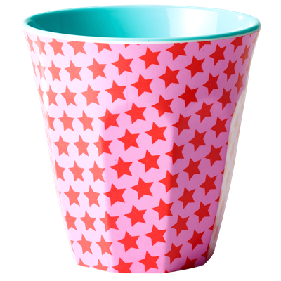 Rice Dk two-tone Star Red Melamine Cup