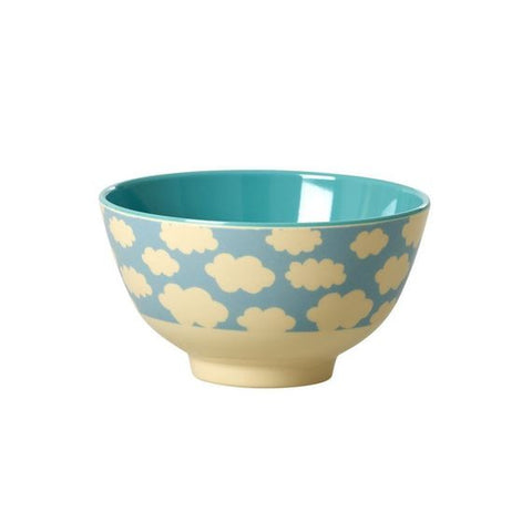 Rice DK | Small Melamine Bowl Two Tone with Cloud Print