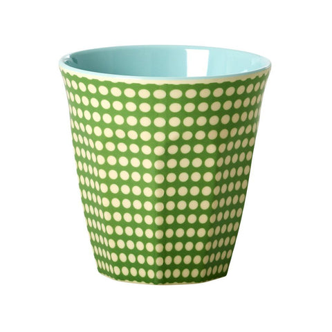 Rice Dk | Two Tone Melamine Cup Dot Print