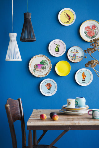 Kitsch Kitchen | Wire Lampshade Blue