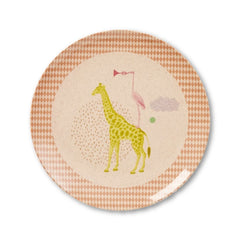 Rice Dk | Small Melamine Plate with Pink Safari Print